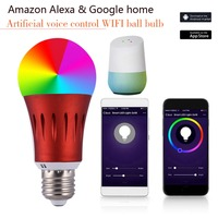 LED Smart WIFI Bulb lamp RGB 7W E27/26/14 B22 Dimmable Work With Alexa/Google Home 16 Million Colours APP Remote Control