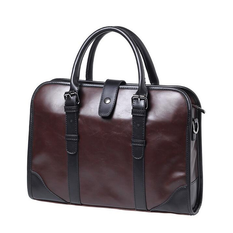 High Quality Leather Briefcases Men Maletin Hombre Handbag Fashion Serviette Affaire New Bag Men Business Men's Leather Bag