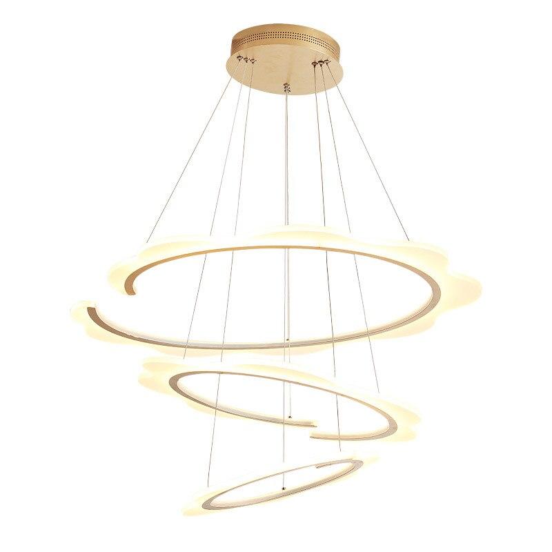 Moderne Led Ring Anhnger Licht Kche Esszimmer Wohnzimmer Hngen Seil Lampe Silber Gold Basis Hauptbeleuchtung Mit