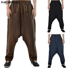 7f2f164070 INCERUN Plus Size Mężczyźni Harem Spodnie Rocznika Biegaczy Hip-Hop  Streetwear Spodnie Mężczyźni Solidna Spadek