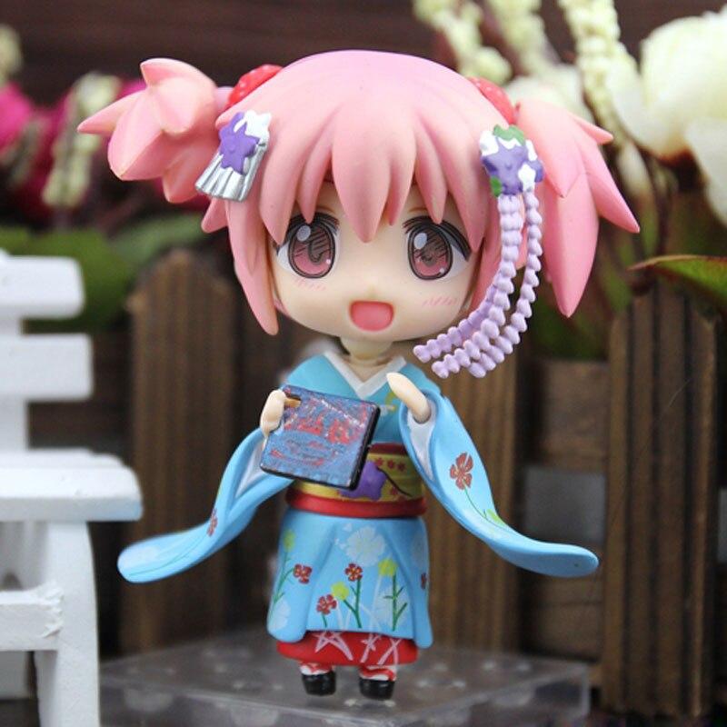 Cute 4 Nendoroid Magical Girl Anime Puella Magi Kaname Madoka Maiko Ver. Boxed 10cm PVC Action Figure Model Doll Toys Gift #332