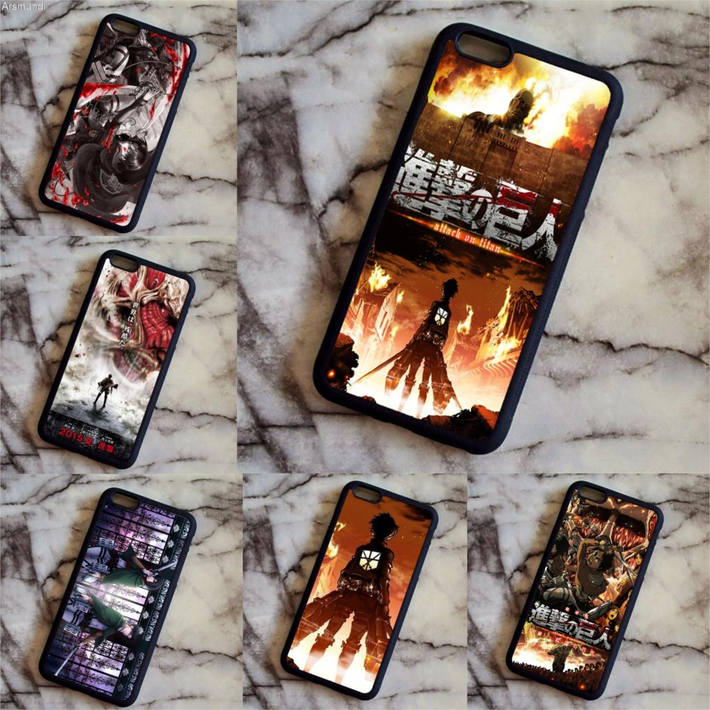 Arsmundi Attack On Titan Anime Phone Cases for Samsung galaxy S3 4 5 6 7 8 plus Note 2 3 4 5 7 8 Case Soft TPU Rubber Silicone