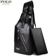 VICUNA POLO Fashion Leather Men Crossbody Bag Classic Simple