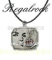 Regalrock Michael Jackson,Crown Microphone Thriller MJ Necklace