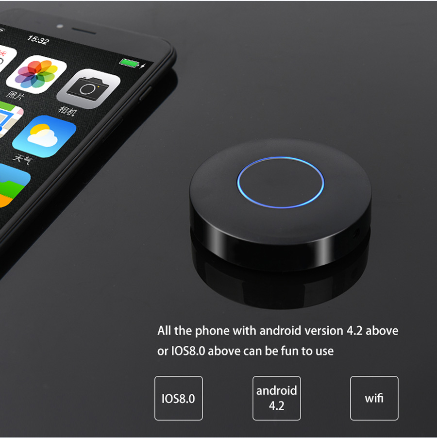Q1 Mirroring Dongle OTA TV Stick Dongle HDMI AV Output Better Than EasyCast Wi-Fi Display Receiver DLNA Airplay Chromecast