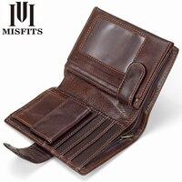 MISFITS Men Wallet Genius Leather Portfolio Brand Designers Male Clutch Wallets Money Pocket Large Capacity Coin