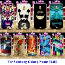 AKABEILA Panda Tiger Covers For Samsung Galaxy Nexus I9250 Nexus 3 Prime GT-I9250 Phone Cases Bags Skin Durable Protector Shells