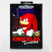Knuckles The Echidna In Sonic The Hedgehog 1 - Retail Box - Sega Megadrive/Genesis 2