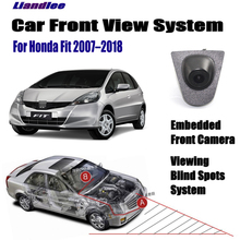 Liandlee Car Front View Camera For Honda Fit 2007-2018 2015 2016 Logo Embedded 4.3 LCD Screen Monitor Cigarette Lighter Switch