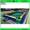 Гуанчжоу Qinda надувные настольный футбол снукер бассейн игры, надувные billboard футбольный стол с 16 шаров