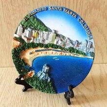 Коламбия Приморский туристический город Санта-Марта туристический сувенир стереоскопический декоративный диск