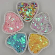 2000pcs 10mm Mixed Color Flowers Loose sequins Paillettes Sewing Wedding Craft  Accessories cloth crafts confetti clothing