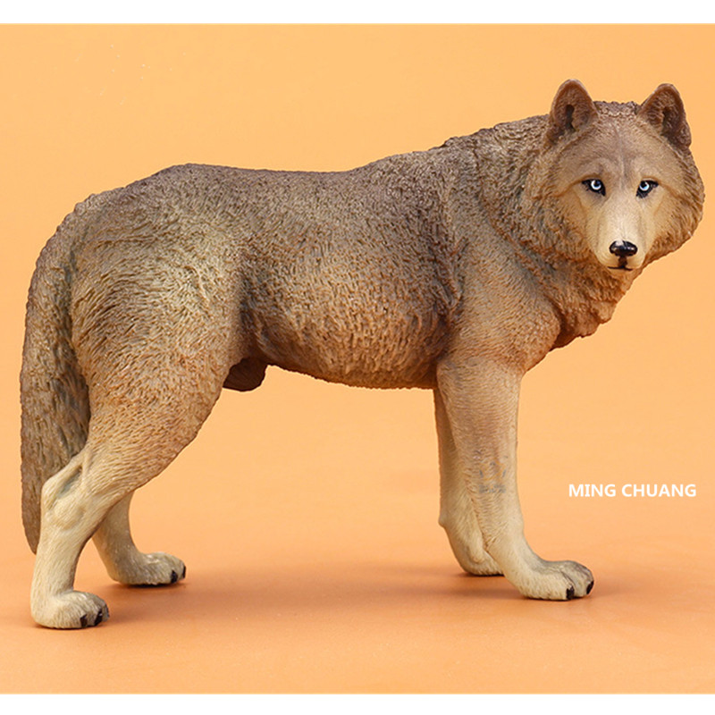 Cute Puppy Statue Simulation Wolfdog German Shepherd Dog Art Craft Cartoon PVC Home Decor Birthday Gift OPP D77