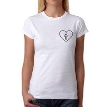 Christian T-Shirt Cross in Heart