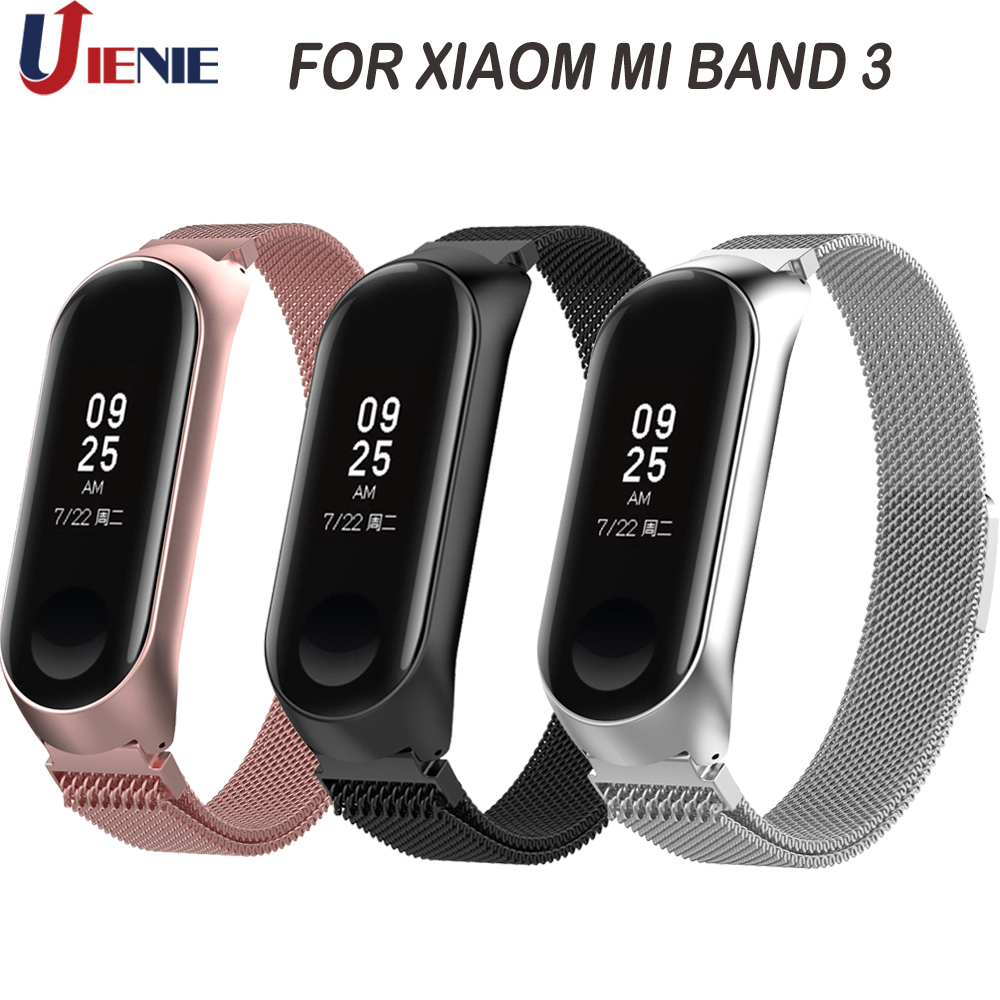 Watchband Straps for Xiaomi Mi Band 4 Miband 3 Strap Smart Watch Band Milanese Stainless Steel Wrist Bracelet Replacemen Band