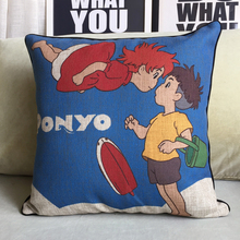 Studio Ghibli – Ponyo on the Cliff  – Pillow Cushion 43x43cm