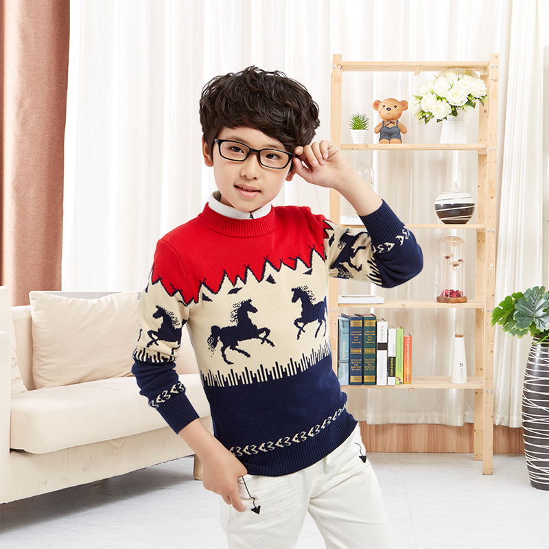 Kids Christmas Sweaters 2016 Autumn New Baby Boys Sweaters Cotton