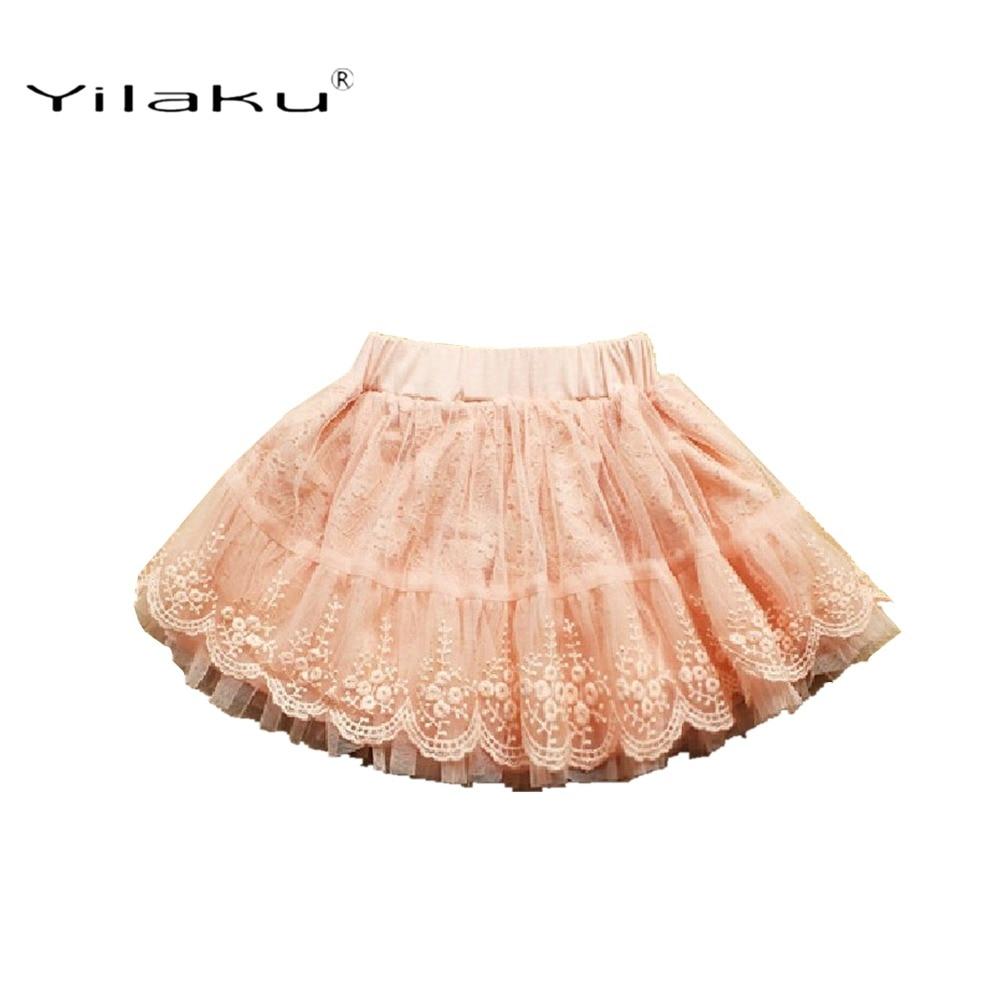 Yilaku Dziewczyny Spódnice Moda Koronkowa Spódnica Dla Dziewczyn - Ubrania dziecięce - Zdjęcie 2