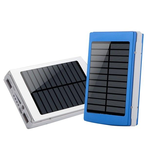 Whit 2 hub usb célula solar 2000 mah banco de la energía protable acreedor foe t