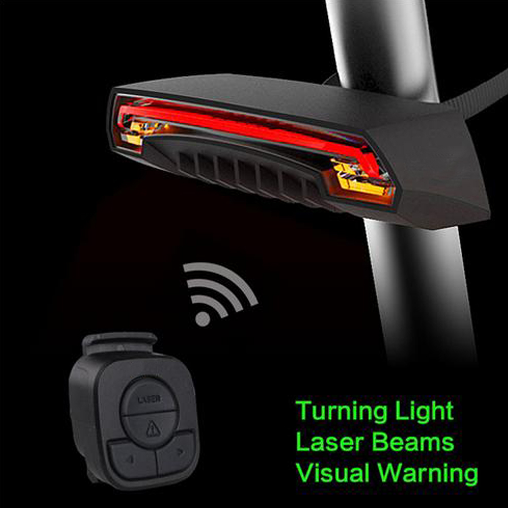 Bicycle Wireless  Rear Light Bike Turn Signal Remote Control 