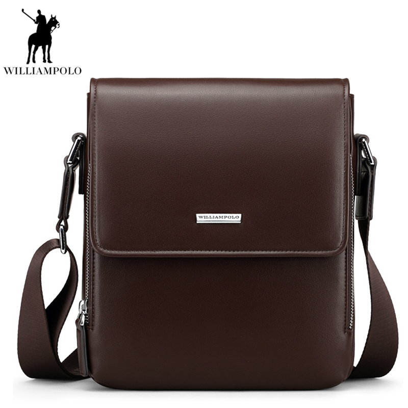 2018 Genuine Leather Men Bags Business Handbags Male Messenger Bag Man Crossbody Shoulder Bag Men's Travel Bags Brown PL013D casual canvas women men satchel shoulder bags high quality crossbody messenger bags men military travel bag business leisure bag