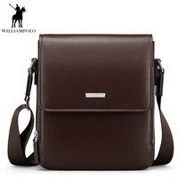 2018 Genuine Leather Men Bags Business Handbags Male Messenger Bag Man Crossbody Shoulder Bag Men's Travel Bags Brown PL013D