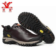 Brand Mens Leather Sports Outdoor Trekking Hiking Shoes Sneakers For Men Coffe Color Sport Climbing Mountain Shoes Man