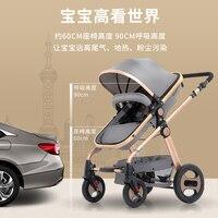 Babyfond обновленная версия высокой ландшафтной коляски может сидеть плоский и легкий складной амортизатор детская коляска