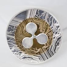 Новинка, 1 шт. монета ряби, золотой, серебряный цвет, XRP, криптовалюминесцентная ряби, коллекционеров XRP, монета, подарок, художественная колле...