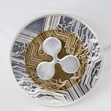 Ripple Coin Collectors Commemorative Xrp Crypto Gold Silver-Color New Gift 1pcs Physical