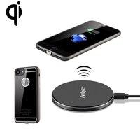 Carregador Sem Fio Qi para iPhone 7/7 Plus + Qi Receiver Caso TPU Macio