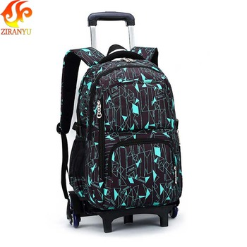 ZIRANYU Latest Removable Children School Bags 2/6 Wheels Stairs Kids boys girls Trolley Schoolbag Luggage Book Bags Backpack Kids & Baby Bags
