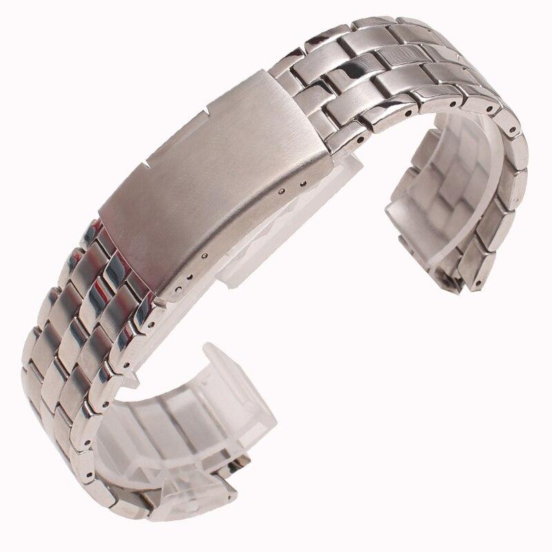 купить 24*14mm High Quality Stainless steel Watch Bands Strap Watch Men Accessories For Tissot T60 bracelet по цене 2033.13 рублей
