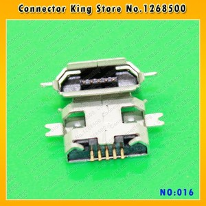100PCS USB Jack SMD / Sink type Micro USB Connector Charging Socket for ZTE/OPPO/Samsung/Nokia mobile phone tablet,MC-016
