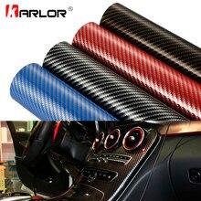 Película de revestimiento de vinilo de fibra de carbono 2D, 30cm x 100cm de alto brillo, bricolaje, adhesivo decorativo para coche y motocicleta, accesorios para coche