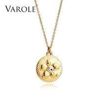 VAROLE 14 דפוסים חדשים אופנה צבע זהב לולאות תליוני שרשראות לנשים/גברים חובבי של שרשרת תכשיטי קולייר