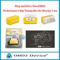 Promoción de navidad Amarillo Nitro OBD2 Rendimiento Chip Tuning Box para Los Coches de Gasolina ahorro de combustible Nitro OBD2 ECU Herramienta de Adaptación de la Viruta