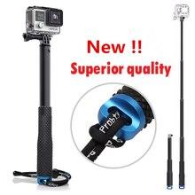 GoPro алюминиевый выдвижная Selfie stick монопод для экшн камеры Go Pro Hero 4 3 + 3 2 sj4000 sj5000 SJ6000 Xiaomi Yi аксессуары