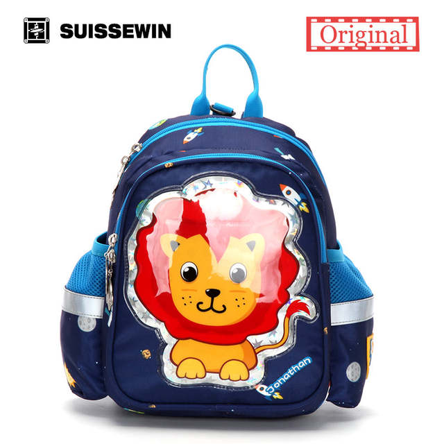 469c4295831a Online Shop Suissewin Brand Cute Animal Shaped Kid Backpack Girls Boys Anti- Lost Anime Zoo Bag Pre-school Children Pack with chest strap
