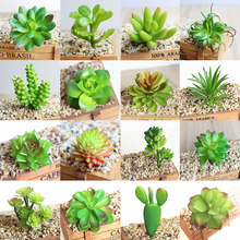 Fashion Artificial Micro Landscape Fashion Scindapsus Potted Green Plant Decoration Garden Plastic DIY Office Home Decoration(China)