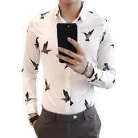Long Sleeve Mens Dress Shirts 2018 Autumn Winter Camisa Social Masculina Slim Fit Male Shirt White Black Chemise Homme