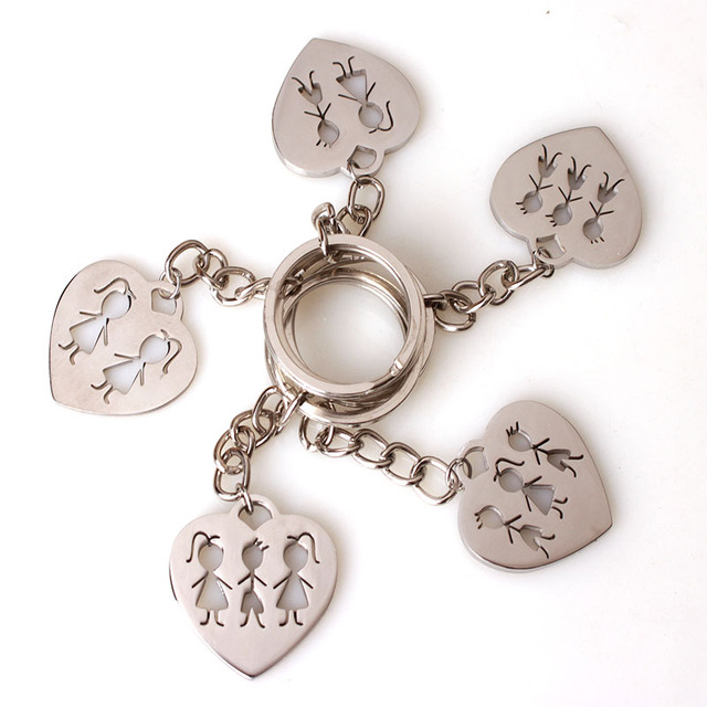 Aliexpress.com : Buy Stainless Steel Family Keychain Sister Brother ...