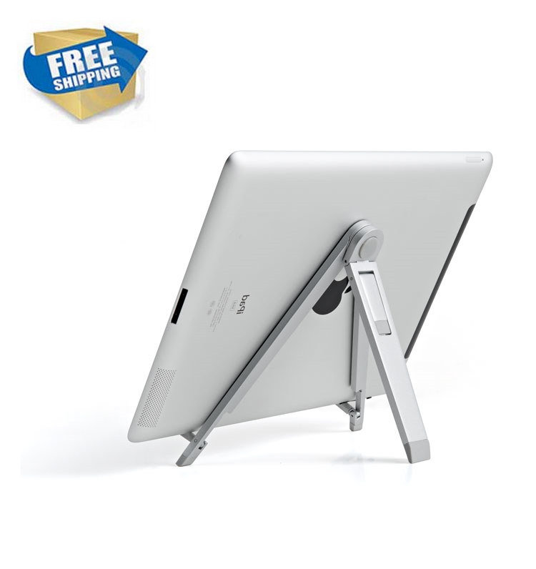 Dsupport UP-3 Folding Portable Tablet pc Stand Aluminum Alloy Adjustable Angle 7-10 inch Tablets pc Holders