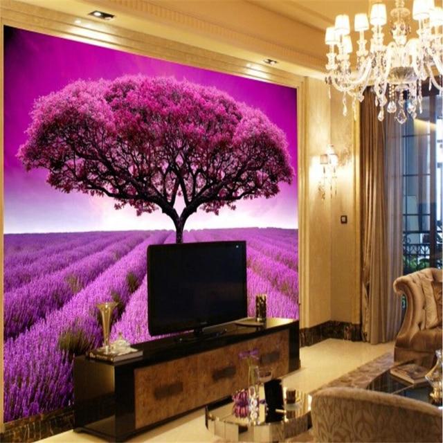 beibehang Custom 3d wallpaper lavender garden wallpaper TV ...