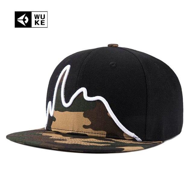 48c8e4323dd  WUKE  Brand baseball caps men brim straight Strapback gorras hat hip hop  dance 5 panel snapback cap for women casquette gorro