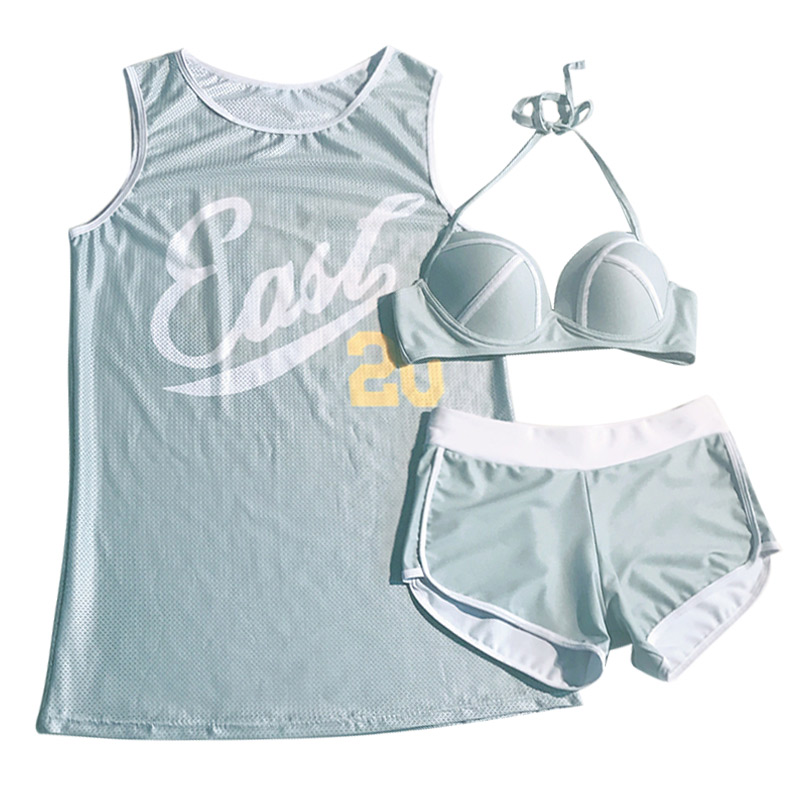 2018 New Arrival Top Swimming Suit Small Fresh And Lovely Chest, Three Pieces Of Bathing new dji top