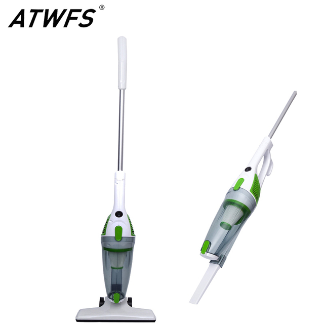 ATWFS Low Noise Portable Handheld Vacuum Cleaner 2 in 1 Dust Collector Ultra Quiet Mini Rod Vacuum Cleaner for Home Cleaning