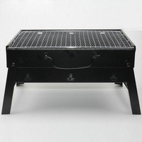 new Medium thick folding grill oven outdoor portable barbecue home charcoal carbon oven Multi function grill black color