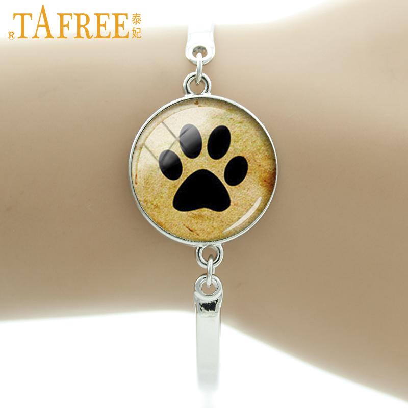 TAFREE Brand Animal Charms <font><b>Dog</b></font> likers <font><b>bracelet</b></font> My Friend Paw Prints cute puppy <font><b>dog</b></font> <font><b>bracelets</b></font> jewelry for men and women gift B255 image