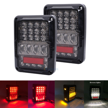 Top selling Waterproof led tail light Offroad Truck 4x4 taillights 12V 24V Reverse lamps for Jeep Wrangler Unlimited JK 4 Door